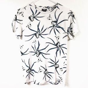 H&M Floral Printed Short Sleeve Tee Shirt